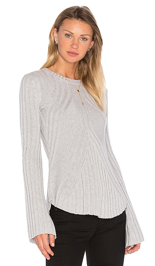 Rib Bell Sleeve Sweater