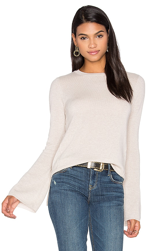 Autumn Cashmere Bell Sleeve Sweater in Beige