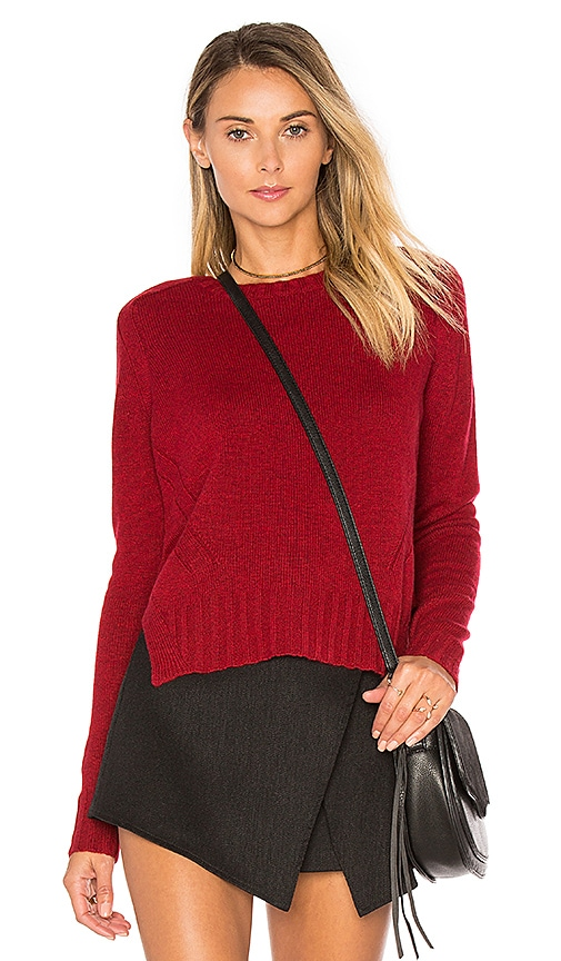 Autumn Cashmere Crew Neck Sweater in Red