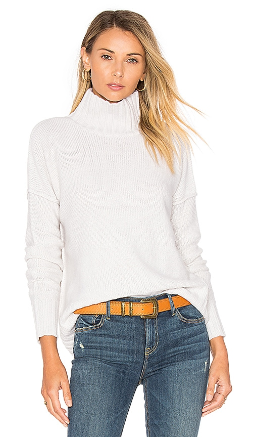 Autumn Cashmere Mock Neck Sweater in Light Gray