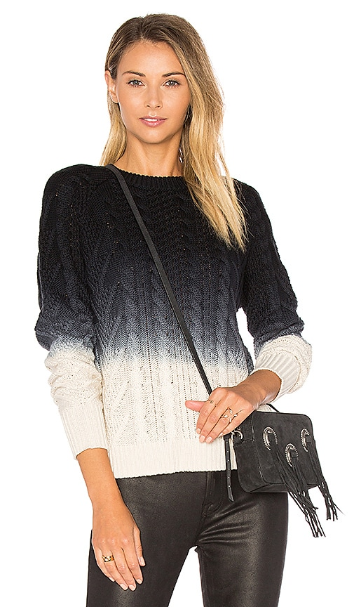Autumn Cashmere Dip Dye Sweater in Navy
