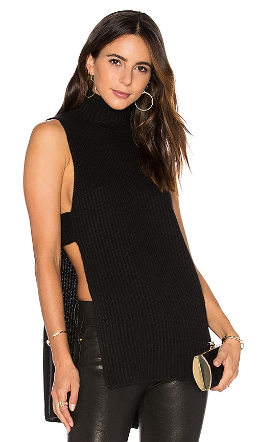 Shaker Stitch Apron Sleeveless Sweater