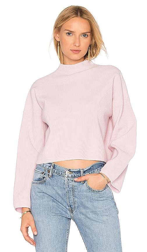 Autumn Cashmere Boxy Wide Sleeve Sweater in Pink