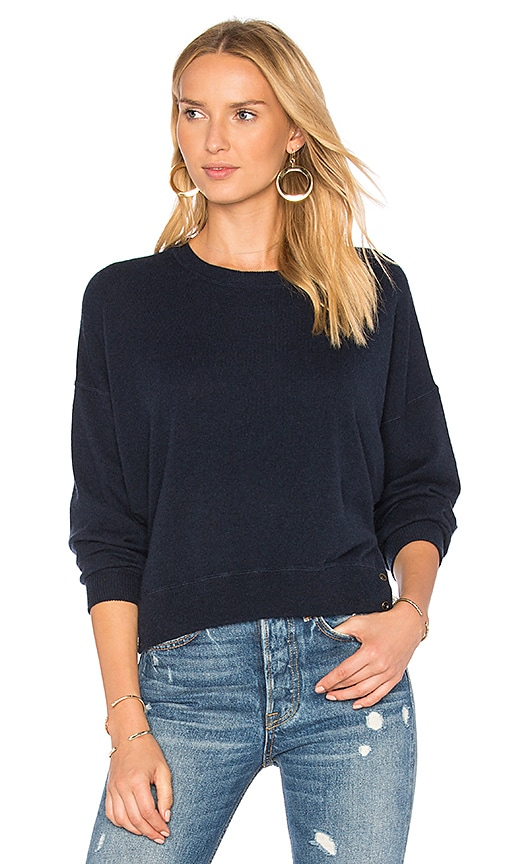 Autumn Cashmere Hi Lo Dolman Sweater in Navy