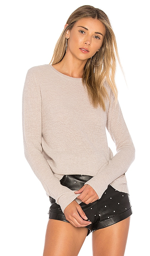 Autumn Cashmere Reversible Crossover Sweater in Gray