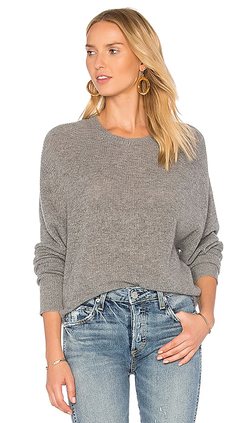 Autumn Cashmere Relaxed Shaker Sweater in Gray