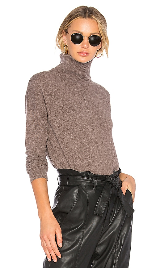 Autumn Cashmere Relaxed Hi Lo Sweater in Brown