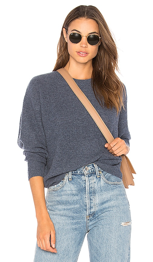 Autumn Cashmere Relaxed Shaker Sweater in Blue
