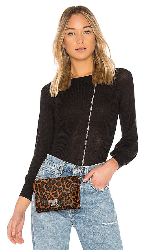 Autumn Cashmere Off Shoulder Sweater in Black