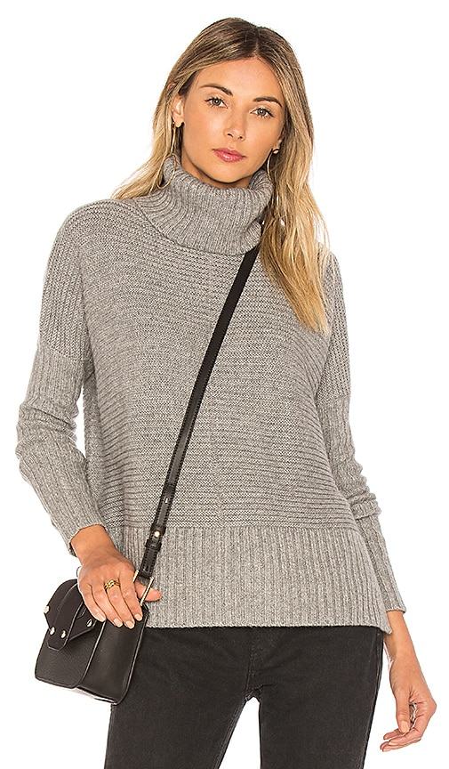 Autumn Cashmere Boxy Shaker Sweater in Gray