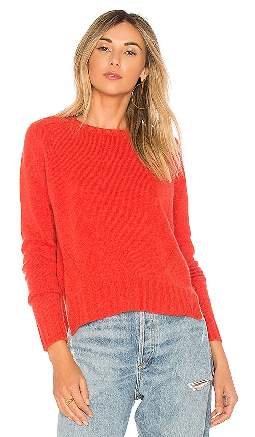 Autumn Cashmere Full Fashioned Sweater in Burnt Orange
