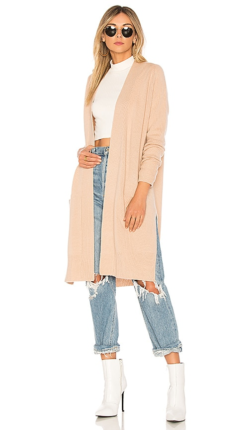 Autumn Cashmere X REVOLVE Maxi Open Cardigan in Cream