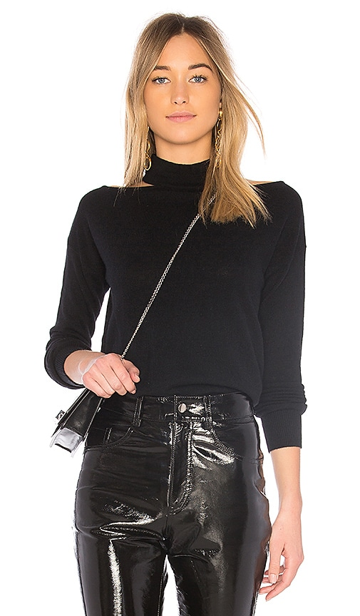 Autumn Cashmere Turtleneck Sweater in Black