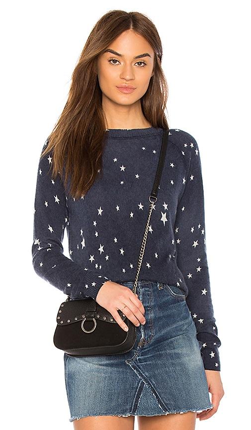 Autumn Cashmere Star Print Sweatshirt in Navy