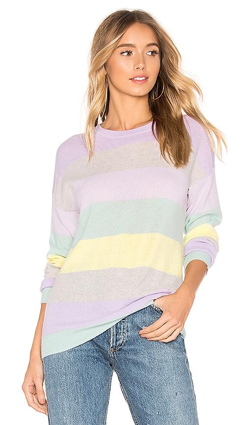 Rainbow Stripe Boyfriend Sweater