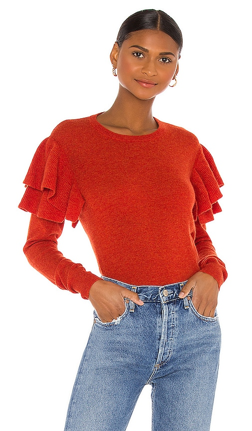 Double Ruffle Crew Sweater