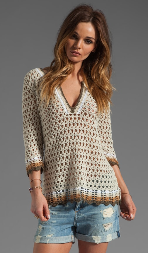 Crochet Slash Neck Tunic