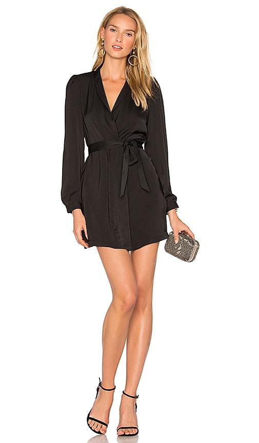 AVEC LES FILLES Wrap Dress in Black