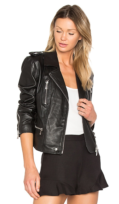 AVEC LES FILLES Moto Jacket in Black