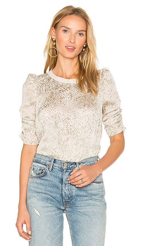 AVEC LES FILLES Ruched Top in White