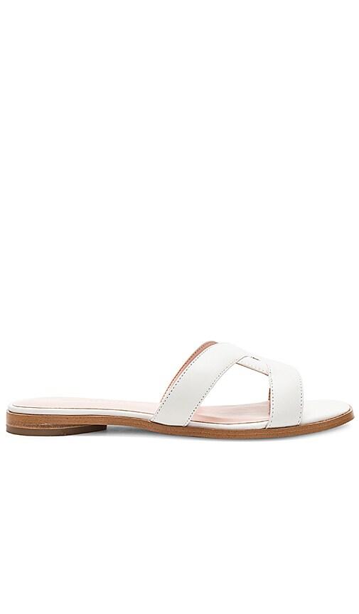 AVEC LES FILLES Blaye Sandal in White