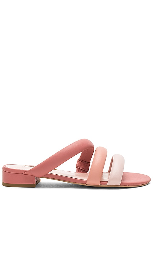 AVEC LES FILLES Women'S Carla Leather Color-Block Slide Sandals in Pink