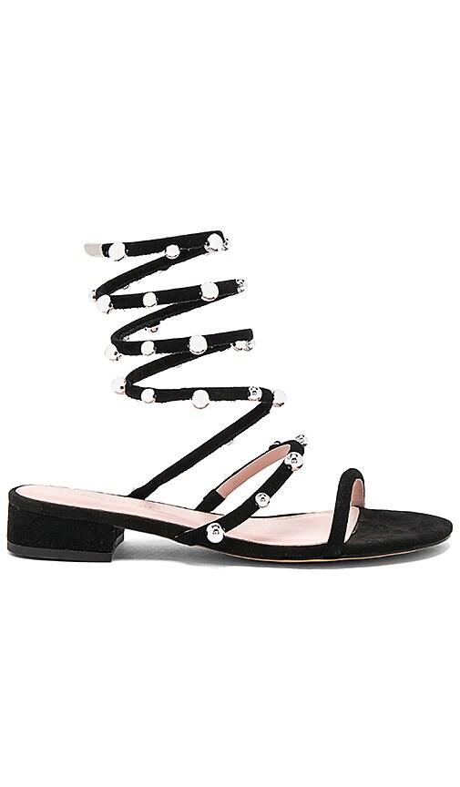 AVEC LES FILLES Cora Sandal in Black