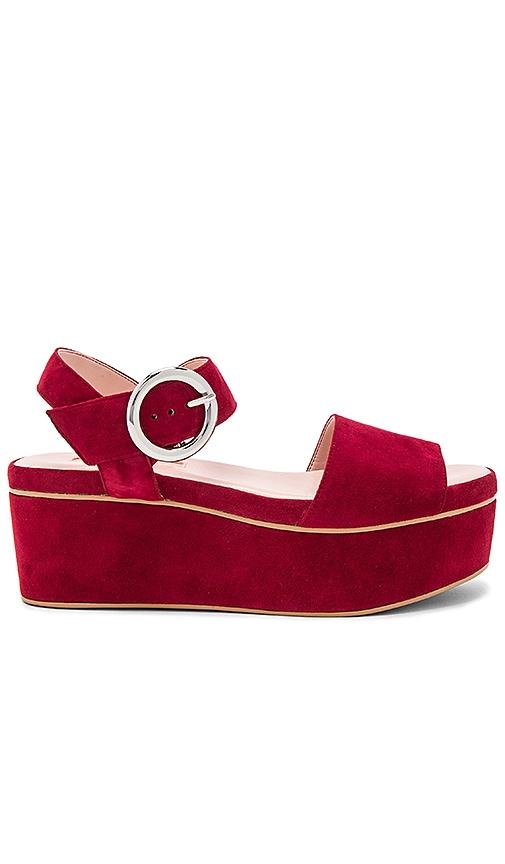 AVEC LES FILLES Audra Platform Sandal in Red