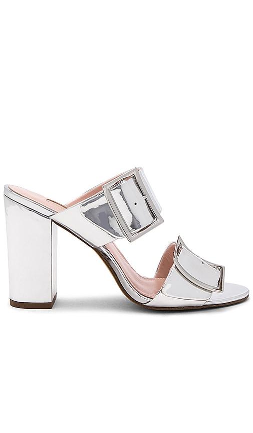 AVEC LES FILLES Millie Heel in Metallic Silver