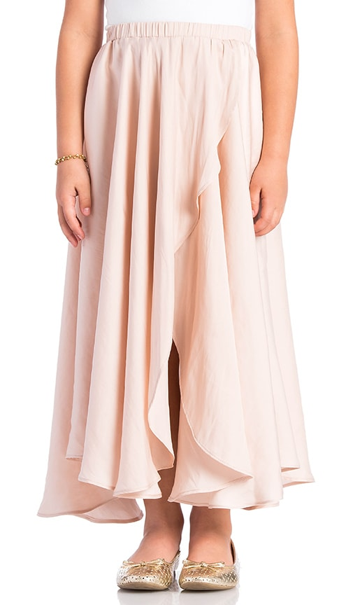 Alexis Blue Wrap Skirt in Petal
