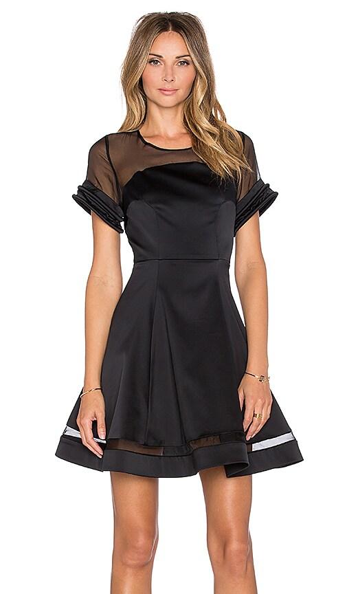 Alexis Talia Sheer Mini Dress in Black