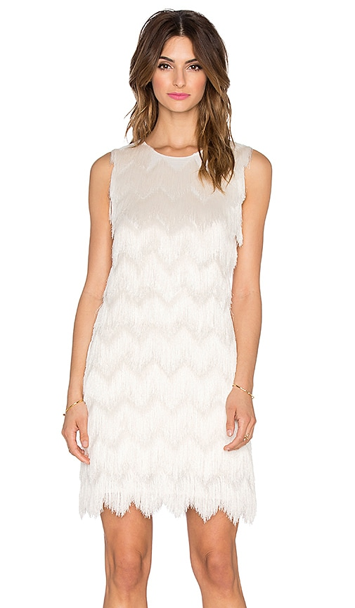 Alexis Venus Fringe Dress in Cream