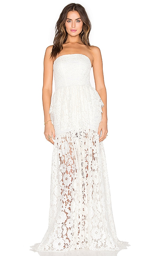 Alexis Sylvia Maxi Dress in White Lace