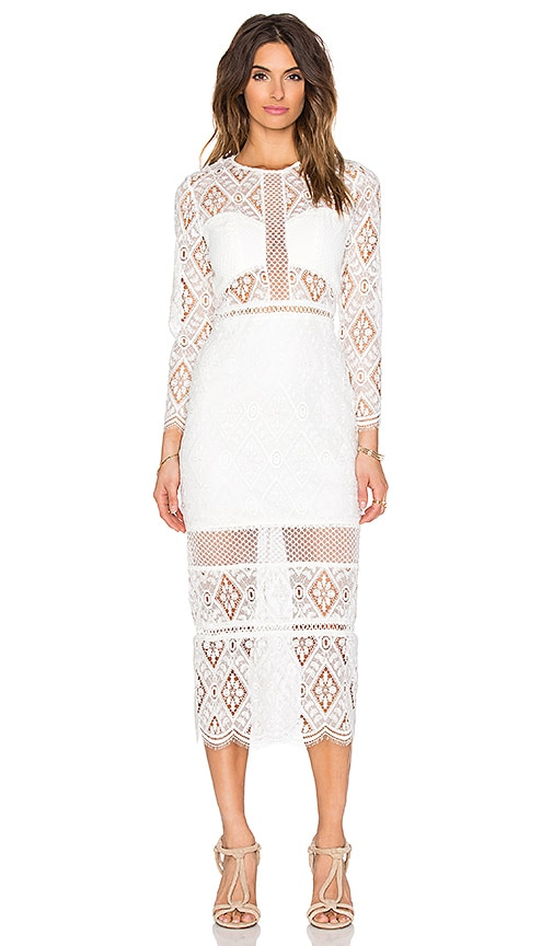 Alexis Maud Midi Dress in Cream
