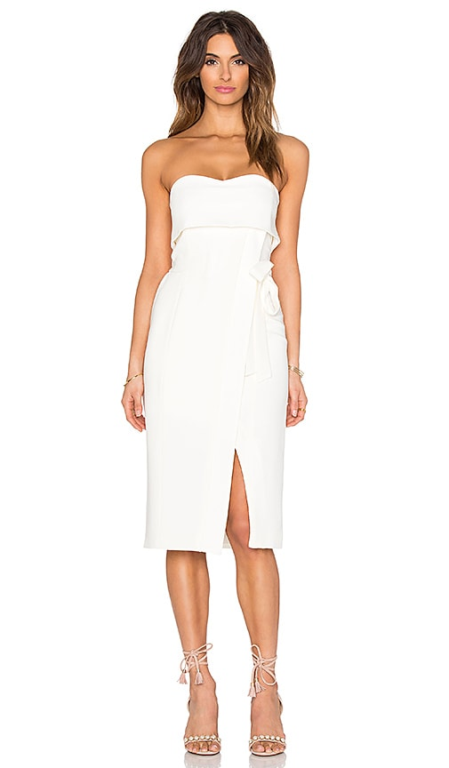Alexis Rafaeli Midi Dress in Off White