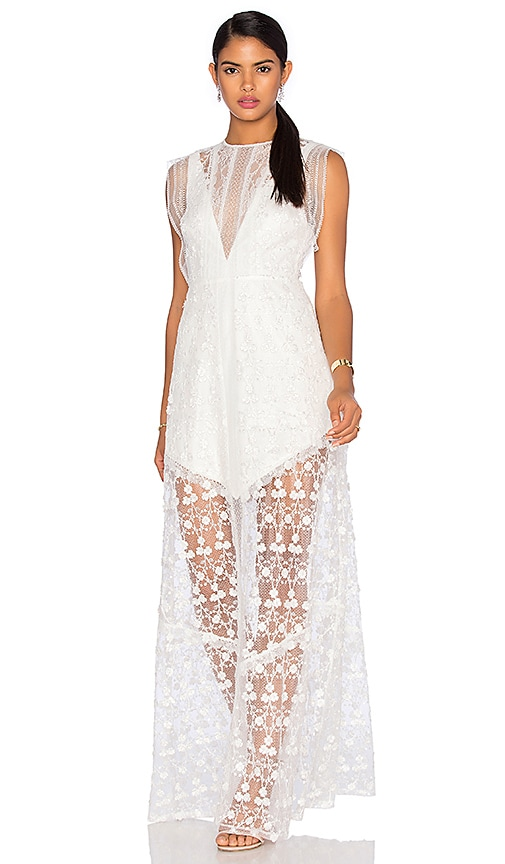 Alexis Kasia Long Dress in White