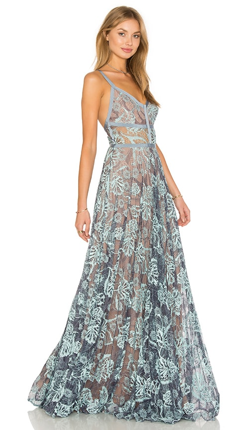 Alexis Isabella Gown in Light Blue Lace | REVOLVE