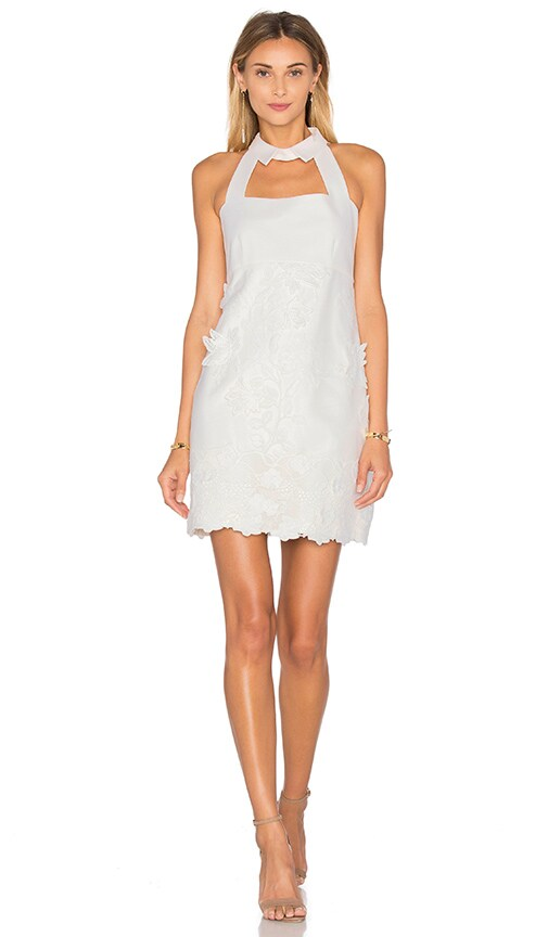 Alexis Bruna Dress in White Flower Embroidery