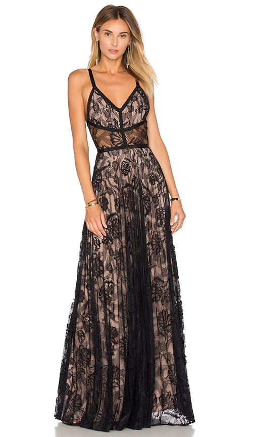 Alexis Isabella Gown in Black Lace