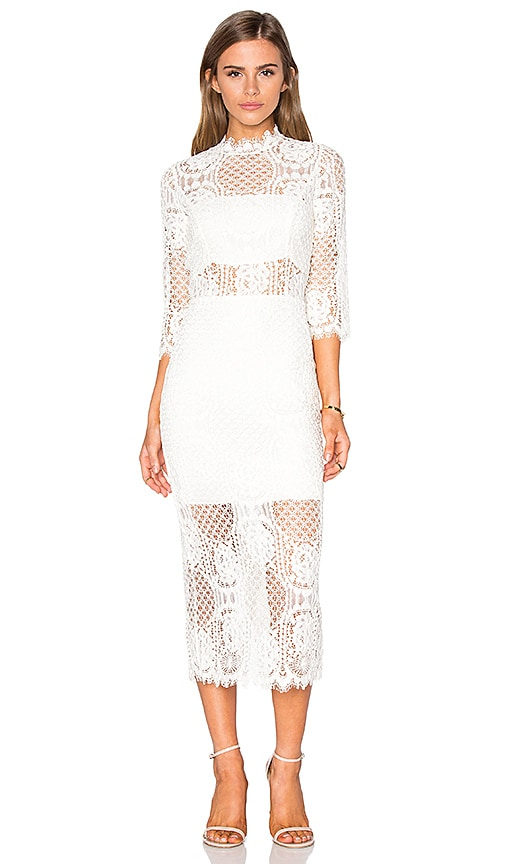 Alexis Miller Midi Dress in Ivory