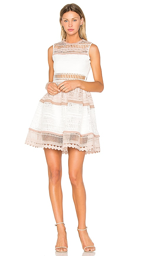 Alexis Melania Dress in White