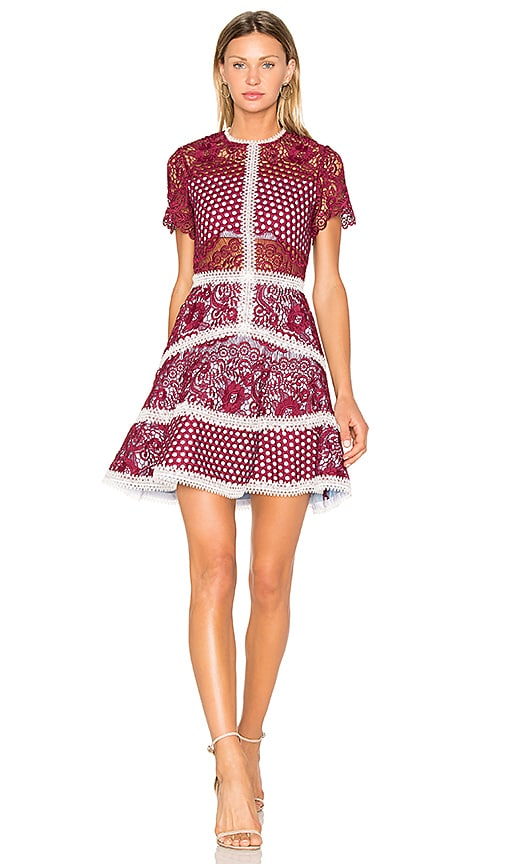 07d4e16e Alexis Rustikan Dress in Burgundy Mosaic | REVOLVE