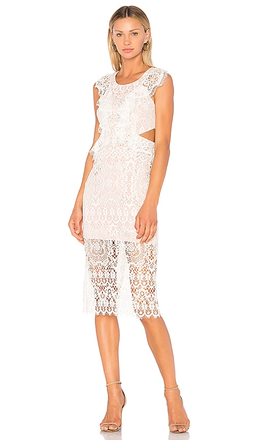 91ff22ca Alexis Pepa Midi Dress in Ivory Lace | REVOLVE