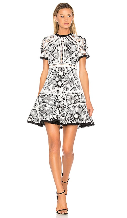 Alexis Emiliana Dress in Black & White