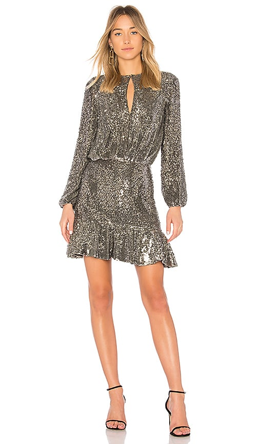Alexis Tamera Dress in Metallic Silver