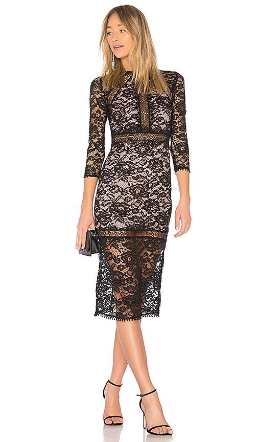 Alexis Marisa Dress In Black Blush Lace Revolve