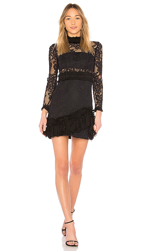 Alexis Wilhemina Mini Dress in Black