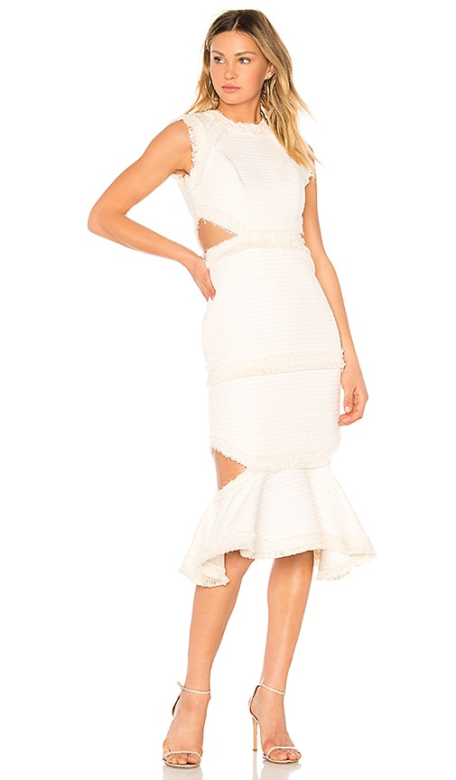 Alexis Venecia Cut Midi Dress in Ivory