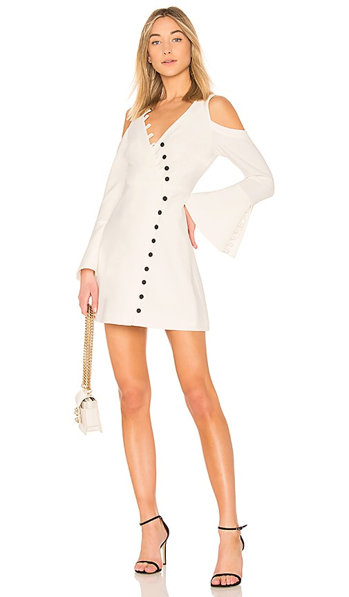 Alexis Galen Bell Sleeve Dress in White