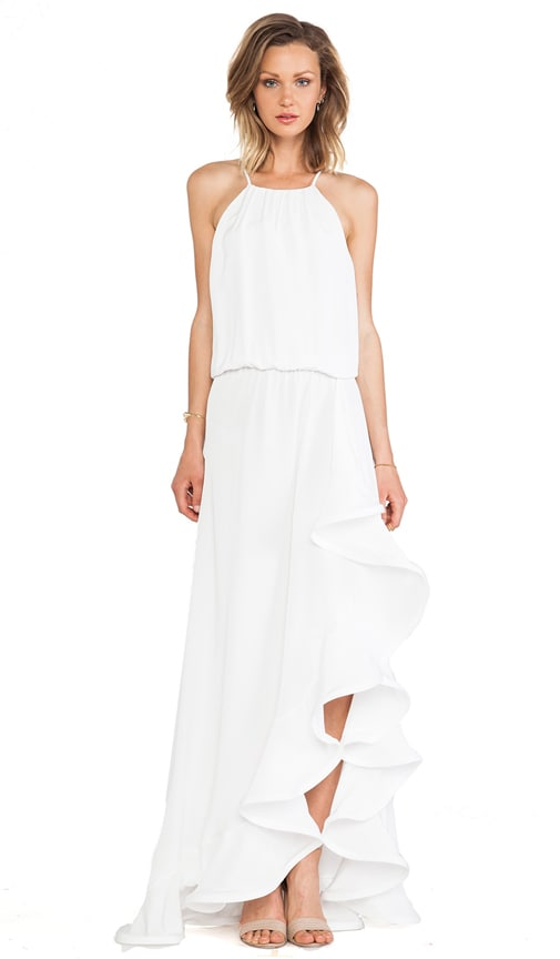 Mickael Ruffle Maxi Dress